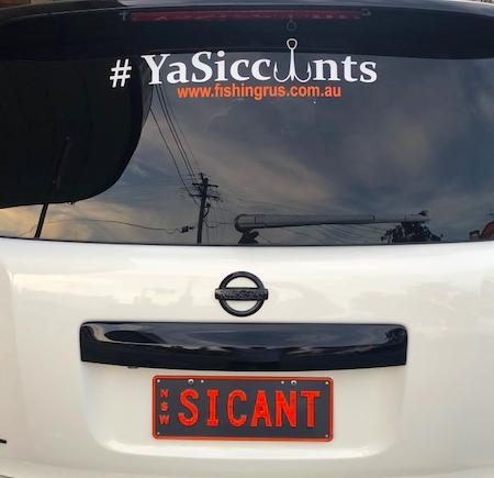#YASICCUNTS STICKER 50X15CM