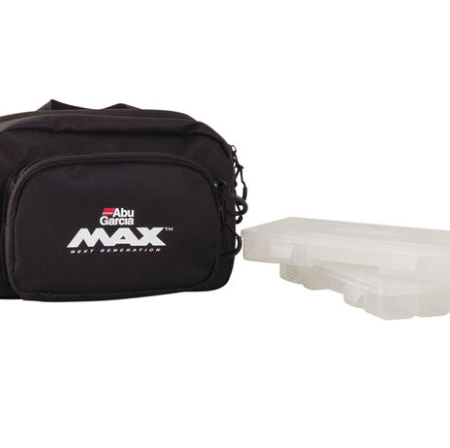 ABU GARCIA MAX HIP BAG WITH 2 X TACKLE TRAYS